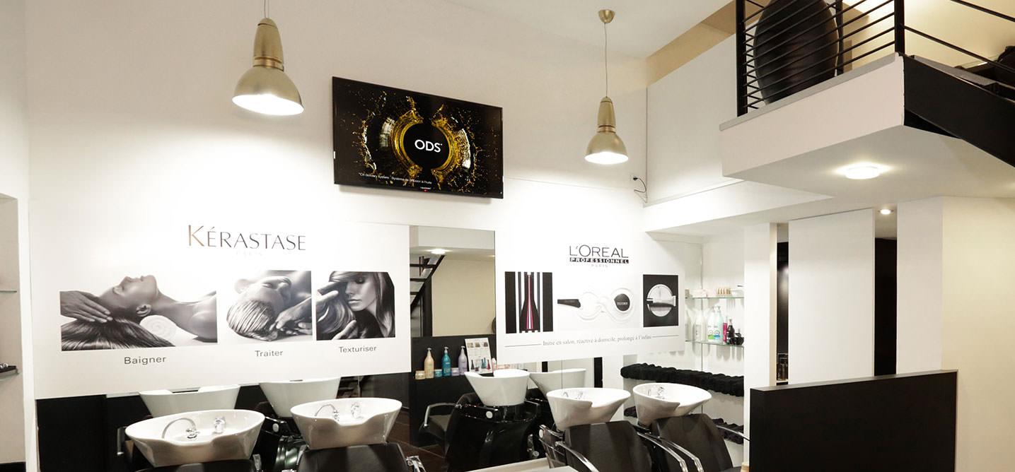 Affichage dynamique salon L'Oreal
