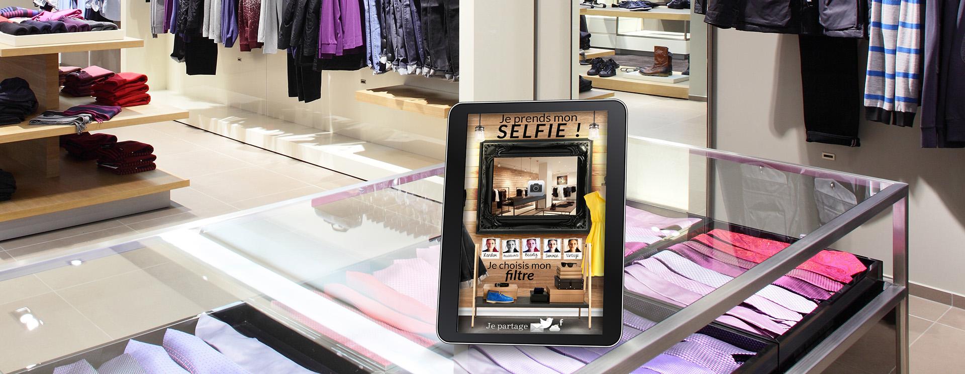 """utiliser des tablettes """"selfie"""" pour animer les ventes"""