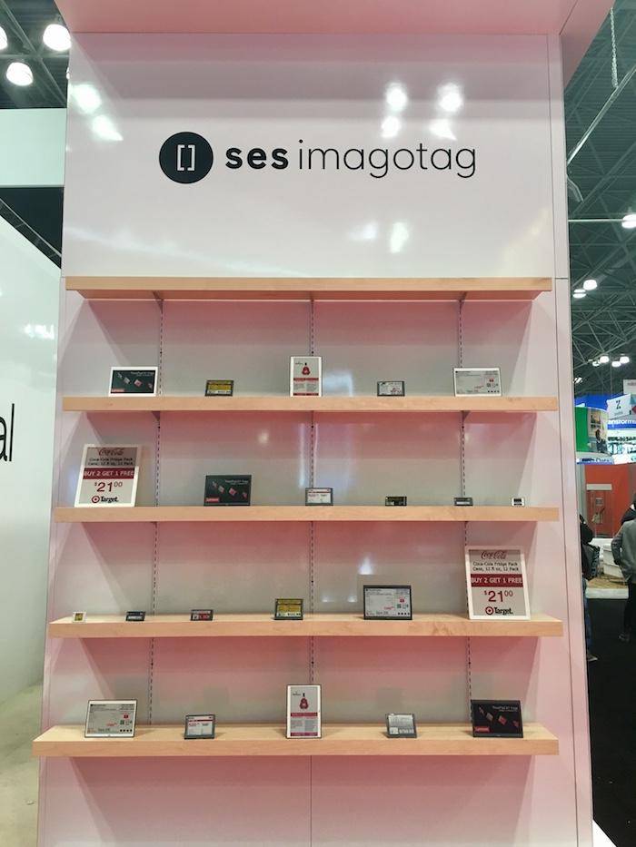 La technologie de SES-imagotag : les étiquettes électroniques