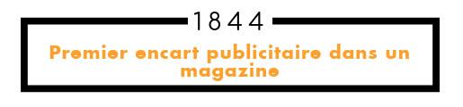 1844 premier encart publicitaire