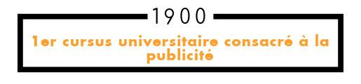 1900 premier cursus universitaire consacré à la publicité